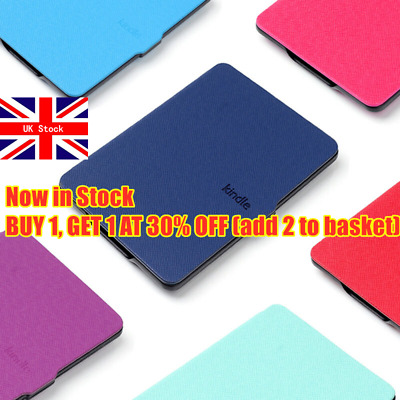 Shell PU Leather Magnetic Cover Smart Case For Amazon Kindle Paperwhite 1/2/3 • 5.65£