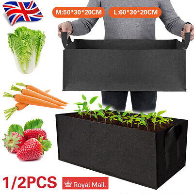 Raised Plant Bed Garden Flower Planter Elevated Vegetable Box Planting Grow Bag • 11.65£