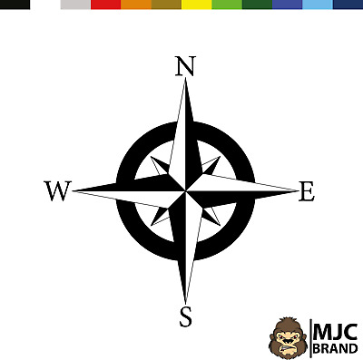 £11.99 • Buy Compass Large Decal Camper Van Motorhome Sticker Vinyl Camping Wall Art