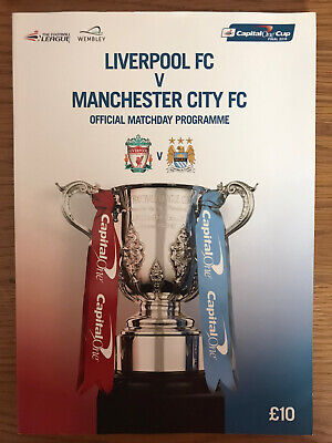 FA LEAGUE CUP FINAL 2016: Liverpool V Manchester City Official Wembley Programme • 2.49£