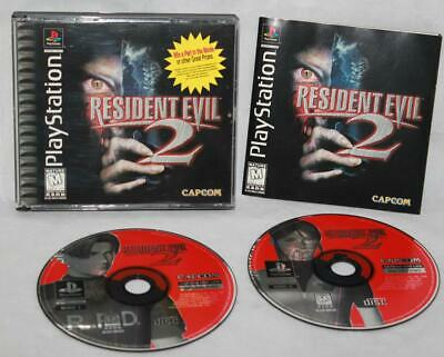 $44.95 • Buy Resident Evil 2 Sony Playstation PS1 Black Label Complete 2 Disc With Manual