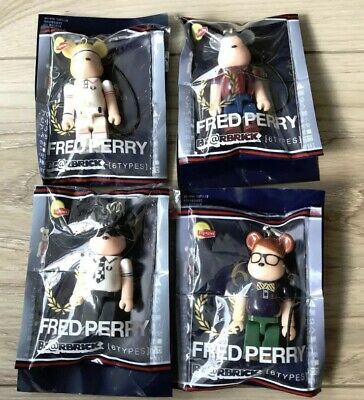 $31.49 • Buy Lipton X Be@rbrick 2012 Fred Perry 70% Strap Bearbrick  Lot Of 4 Japan