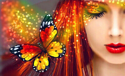 $ CDN12.62 • Buy Full Drill Butterfly Beauty 5D Diamond Painting Cross Stitch Embroidery Crafts