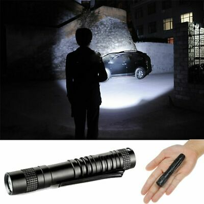Mini Flashlight Micro Penlight Pocket Clip LED Camping Waterproof Torch • 4.76£