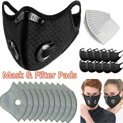 $ CDN32.65 • Buy Reusable Face Cover Washable Filters With Breathing Valve & Activated Carbon Pad