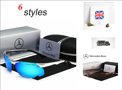 Mercedes Men's Polarized Sunglasses UV Protection Metal Frame Ultra Light New • 15.99£