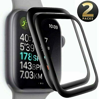 $ CDN4.78 • Buy 2-PACK FULL COVER Screen Protector For Apple Watch Series 6 5 4 SE (40 / 44 Mm)