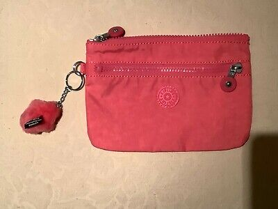 Kipling City Pink Ness Medium Pouch Zip Bag - BNWoT • 14.95£