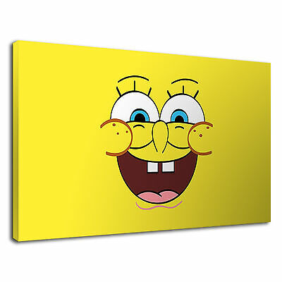 Spongebob Squarepants Childrens Kids Cartoon Canvas Wall Art Picture Print • 36.99£
