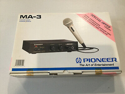 $69.99 • Buy Pioneer MA-3 Karaoke Mixer Original Box DM-21A Microphone Made In Japan NOS NEW