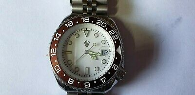 Mens Seiko 7002 Yachtmaster Quartz Divers Watch Rootbeer Insert Jubilee Strap • 9.99£