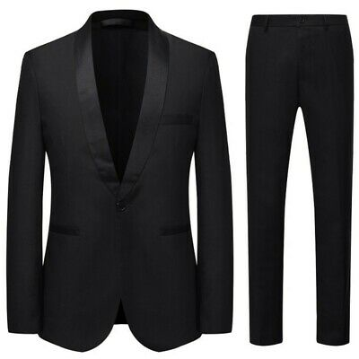 $ CDN70.02 • Buy Mens Formal Dress Wedding 3PCS Suit Tuxedo Dinner One Button Blazer Jacket New L