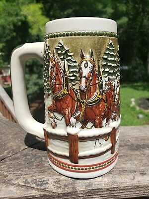$ CDN17.01 • Buy Budweiser Holiday Beer Steins Collectible Clydesdales