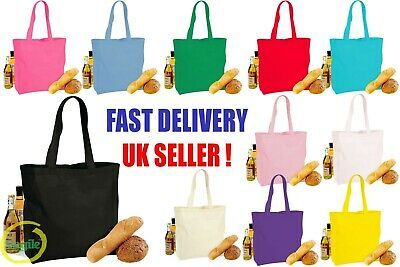 100% COTTON MAXI WIDE BAG Tote Large Shopper Grocery Shopping Bag Printable • 3.79£