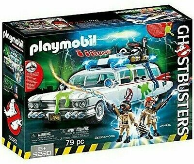 Playmobil Ghostbusters 9220 Ecto 1 Car Wagon Hearst Zeddemore Janine Ectomobile • 45.50£