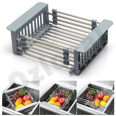 AU28.99 • Buy New Dish Drying Rack Kitchen Organizer Over Sink Dish Drainer Stainless Steel AU