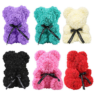 AU12.70 • Buy Creative Foam Rose Flower Teddy Bear Artificial Decoration Valentines Gift