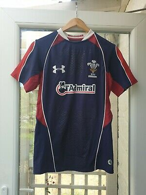 Under Armour Wales Rugby Union Away Shirt Season 2011-2013 Size Small • 14.30£