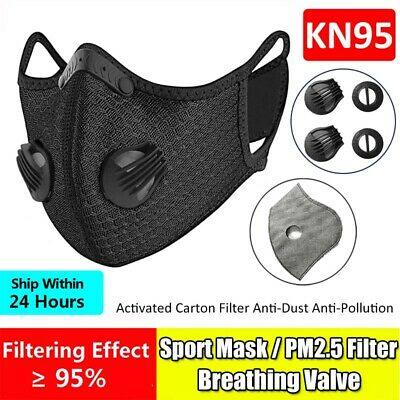 $ CDN48.05 • Buy NEW Style Cycling Face Cover With Active Carbon Filter Pad Valve Breath Washable