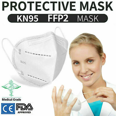 £9.75 • Buy 20 X Face Mask Disposable Mouth Guard Cover Face Masks Filter Non Surgical UK 1