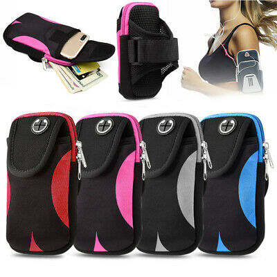 Sports Running Jogging Arm Band Gym Cell Phone Band Bag Pouch Case Holder Size • 4.98£