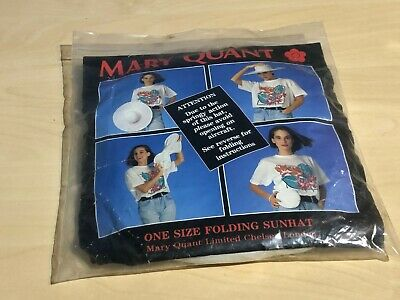 Vintage Mary Quant One Size Folding Sun Hat In Pouch & Original Packaging • 17.99£