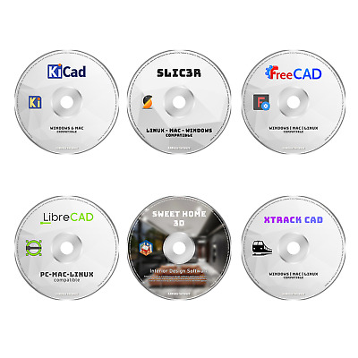 Pro Cad Software Product - 6 Programs Pc 2d 3d Modeling Architect Design Bundle • 10.72£