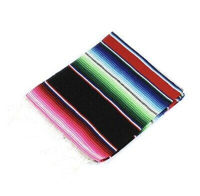 Blanket Throw Rug Stripe Authentic Fair Trade Mexican Serape Shawl • 18.99£