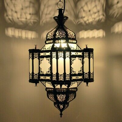 £53.12 • Buy Moroccan Hanging Pendant Light Lamp Hanging Light Frosted Glass Moulay-K H50cm