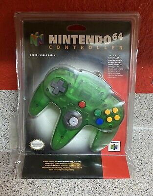 $ CDN438.83 • Buy OEM Nintendo 64 N64 Authentic JUNGLE GREEN Funtastic Controller Factory Sealed