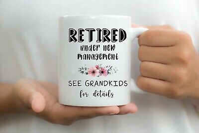 Retired See The Grandkids Mug Cup Tea Grandma Nanny Grandad Nan Retirement • 7.99£