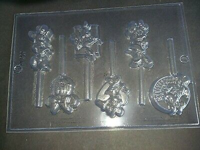6 On 1 Minnie Mouse Chocolate Lolly Mould/Disney Cartoon/party Bag/favours/girls • 5.50£