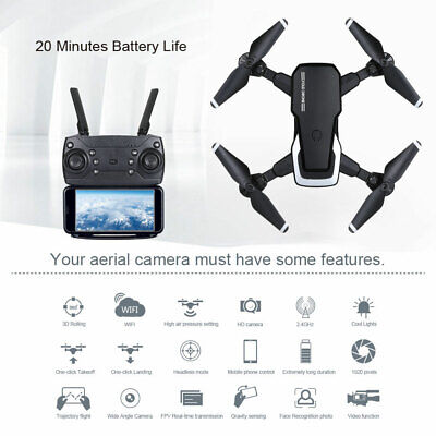 AU73.99 • Buy RC Drone 1080P 4K HD Wide Wifi Fpv With Camera Fordable Arm Rc Drone Quadcopter
