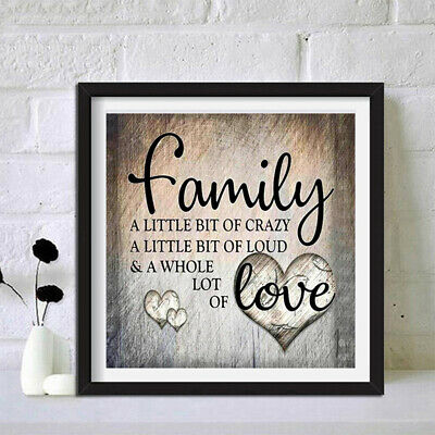 AU11.99 • Buy Full Drill Family Love DIY 5D Diamond Painting Cross Stitch Kit Family