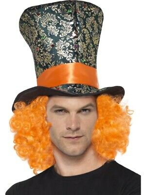 Brand New  Smiffys Top Hat With Hair Mad Hatter Style • 5.85£
