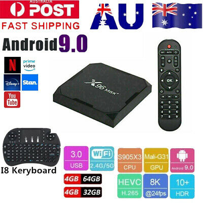 AU78.96 • Buy 2020 Version Android Smart TV Box 4GB+64GB / 4+32GB X96 AIR HD WIFI 8K Quad Core