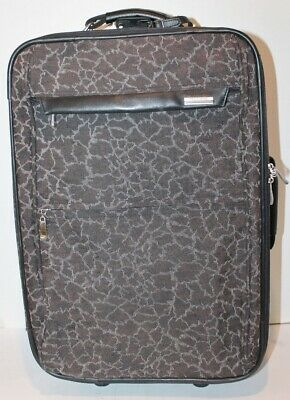 Vtg Protocol Luggage Suitcase Bag-Carry-on Handle&Wheels- Brown Animal Prnti-20  • 10.68£