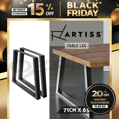 AU94.95 • Buy Artiss 2x Coffee Dining Table Legs Industrial Vintage Bench Metal Trapezoid 71CM