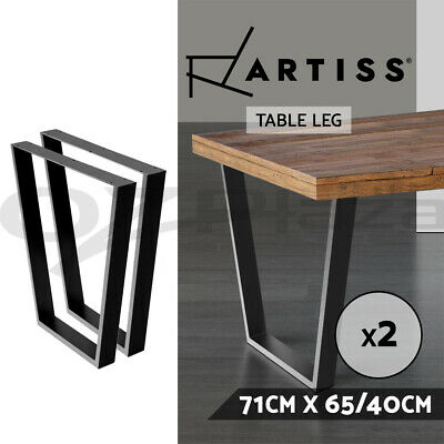 AU79.95 • Buy Artiss 2x Coffee Dining Table Legs Industrial Vintage Bench Metal Trapezoid 71CM