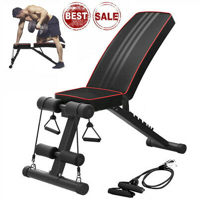 Foldable Weight Bench Heavy Press Workout Fitness Exercise Gym Incline &Decline • 70.59£