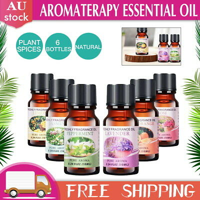 AU12.99 • Buy 6x10ml 100% Pure&Natural Essential Oil Aromatherapy Diffuser Fragrance Aroma Set
