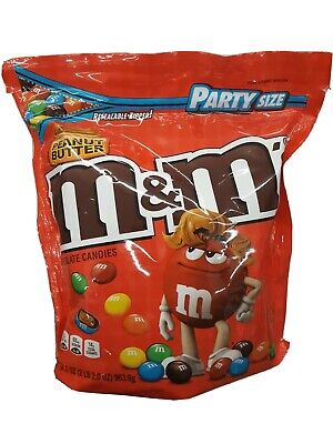 $25.99 • Buy M&M Peanut Butter Chocolate Candy 32oz Party Size Bag