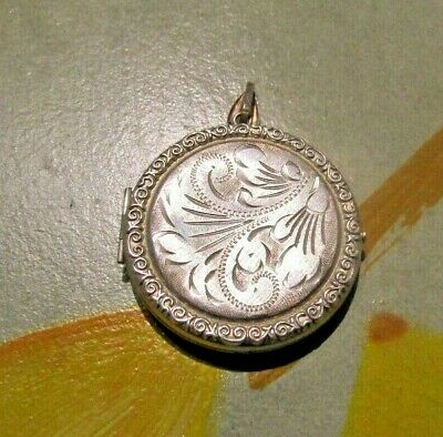 £59.99 • Buy Antique Stunning Vintage Edwardian Fob Locket Pendant Sterling Silver Hallmarked