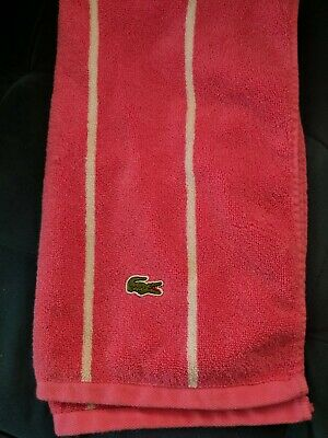 £7.16 • Buy Lacoste Pink Half Towel With White Stripe & Iconic Logo