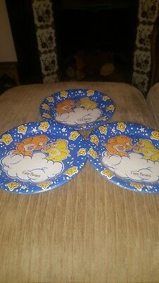 VINTAGE Lot Of Sealed Care Bears Party Plates Retro Carebears Paper Plated • 13£