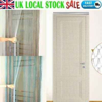 Aluminium Chain Metal Door Curtain Strip Fly Pest Insect Blinds Screen UK SALE • 28.99£