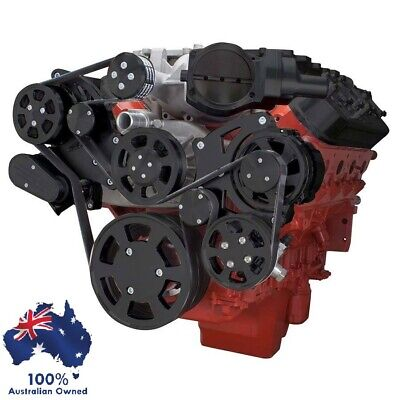 AU4493.95 • Buy Gm Holden Chevy Lsa & Ls9 Engine Serp Kit - Ac Air, Alt & Pr Steer Black Finish