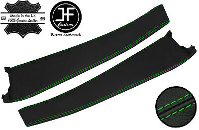 $ CDN208.32 • Buy Green Stitch 2x Door Sill Trim Top Grain Leather Cover For Lotus Elise S2 01-06