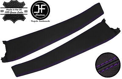 $ CDN208.32 • Buy Purple Stitch 2x Door Sill Trim Top Grain Leather Cover For Lotus Elise S2 01-06