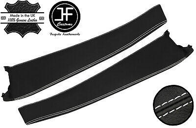 $ CDN208.32 • Buy White Stitch 2x Door Sill Trim Top Grain Leather Cover For Lotus Elise S2 01-06